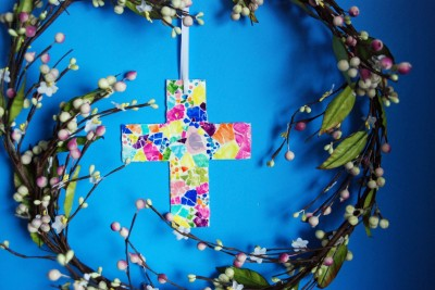 Easter Mosaic Cross