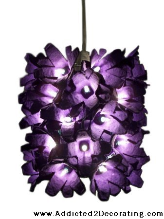 Egg Carton Flower Pendant Light