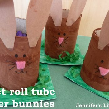 Cardboard Tube Bunny Egg Holders