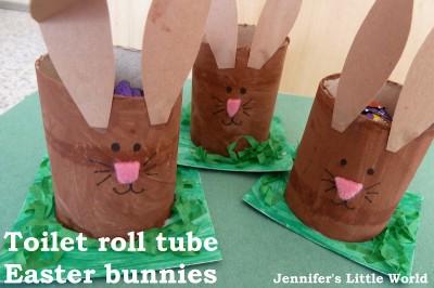Cardboard Tube Bunny Egg Holders