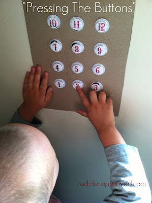 Homemade Elevator Activity: Pressing the Buttons