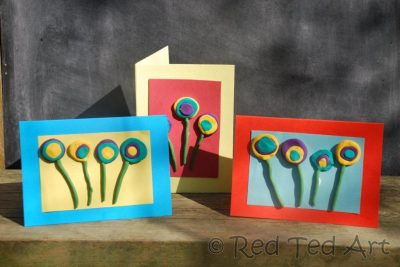 Polymer Clay Flower Cards