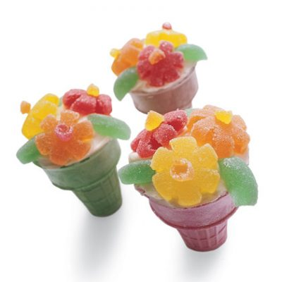 Flower Cupcakes in a Cone