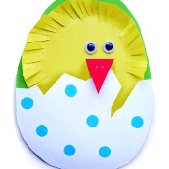 Fringed Paper Easter Chick