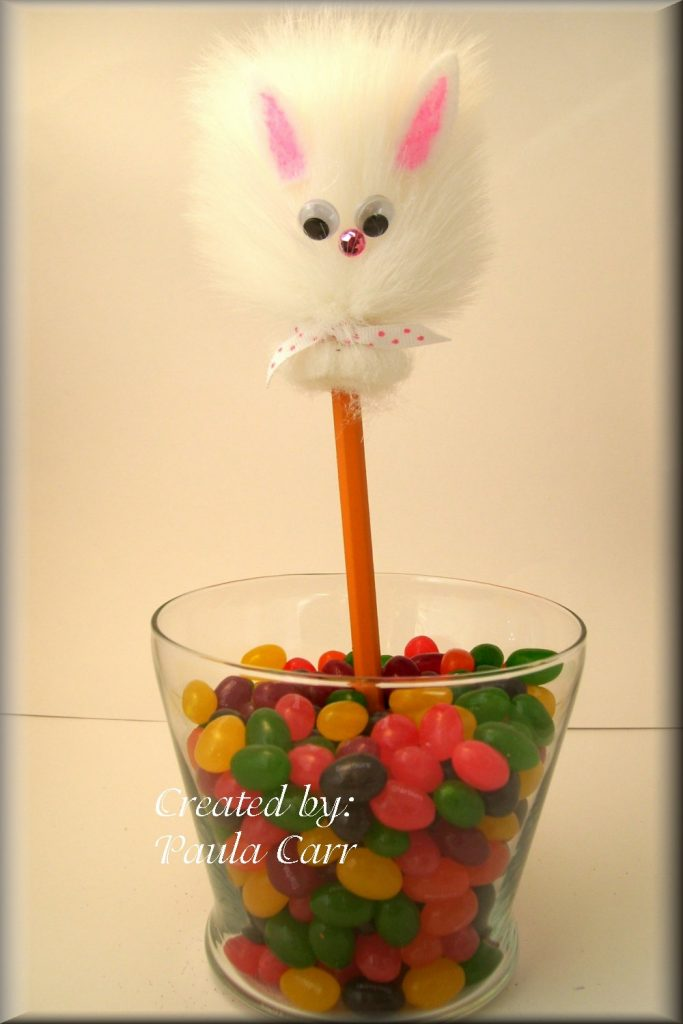Fuzzy Bunny Pencil Toppers