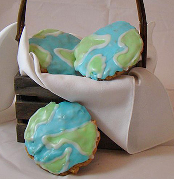 Earth Day Globe Cookies