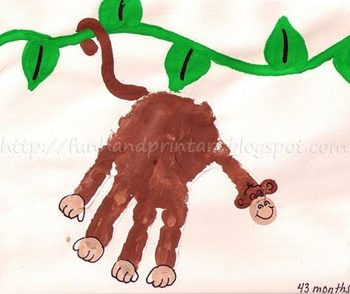 Handprint Monkey on a Vine