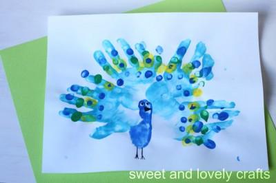 Handprint Peacocks