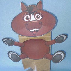 Horse Paper Bag Puppet