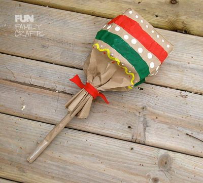 Paper Bag Maracas For Kids Fun Family Crafts