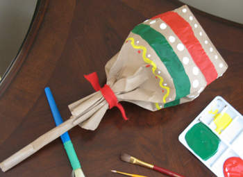 Paper Lunch Bag Maracas
