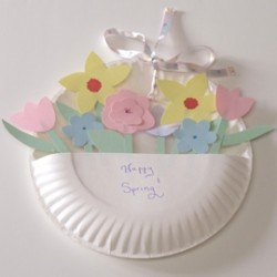 May Day Paper Plate Basket