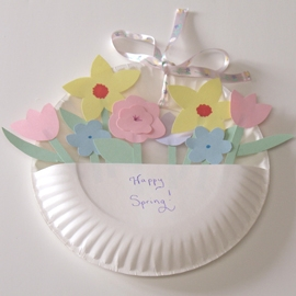 May Day Paper Plate Basket & May Day Paper Plate Basket | Fun Family Crafts