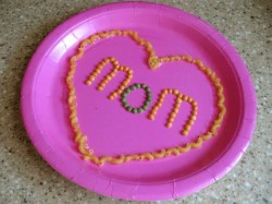 Pasta Heart Plate for Mom