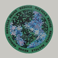 Recycled Puzzle Piece Earth