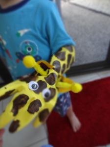 Rubber Glove Giraffe Puppet