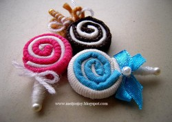 Fabric Lollipops