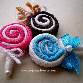 Fabric Lollipops
