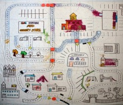 Shower Curtain Village Play Mat