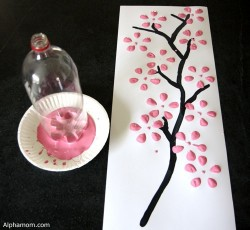 Soda Bottle Cherry Blossoms