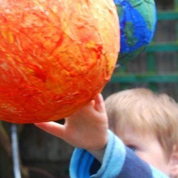 Paper Mache Solar System