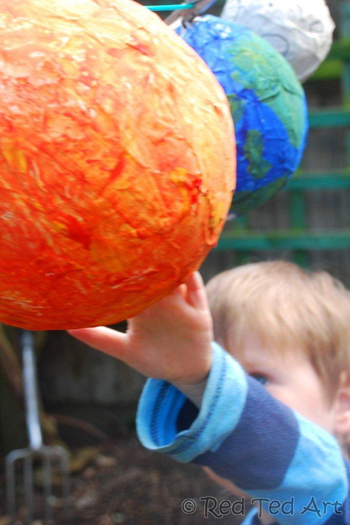 paper mache planets solar system-#6