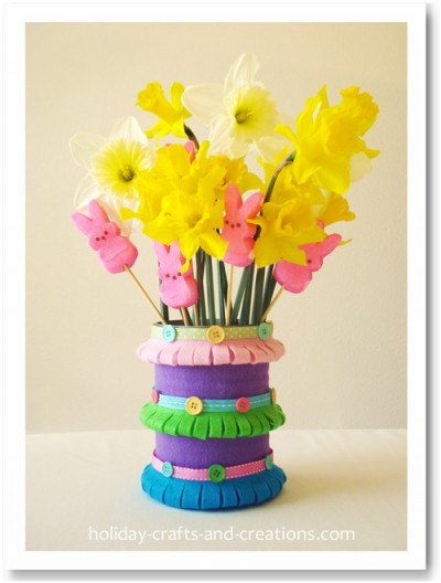 Pretty Spring Vases Made From Felt Fun Family Crafts