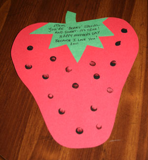 Mother's Day Strawberry Card