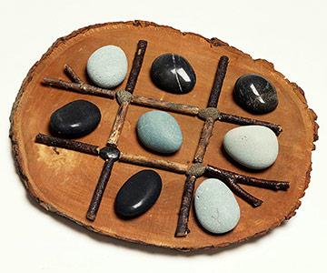 Nature's Tic Tac Toe Board