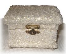 Decoupaged Egg Shell Trinket Box