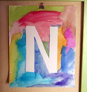 Watercolor Initial Poster