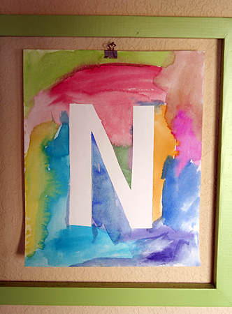 Watercolor Initial Poster