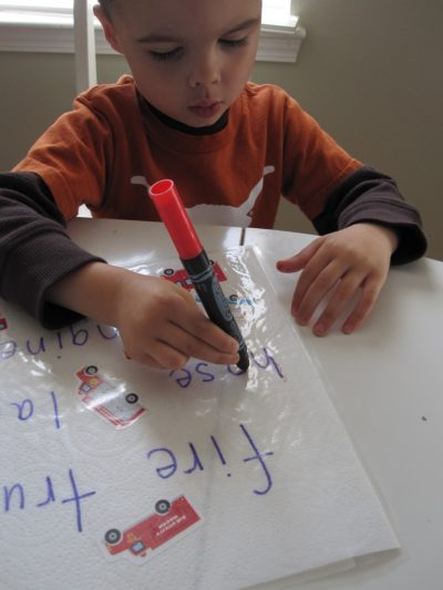 Write and Trace Place Mats