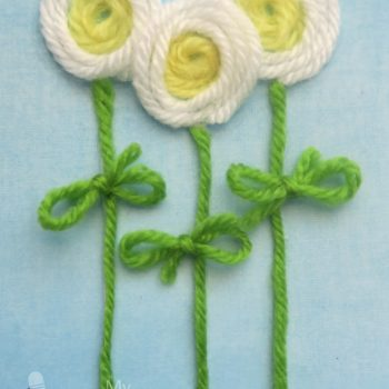 Yarn Flower Card