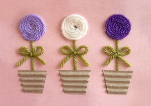 Yarn Flower Greeting Card