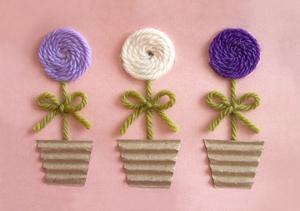 Yarn Flower Greeting Card