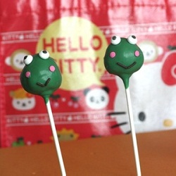 Hello Kitty Cake Pops - Keroppi the Frog