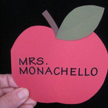 Apple-Shaped Card