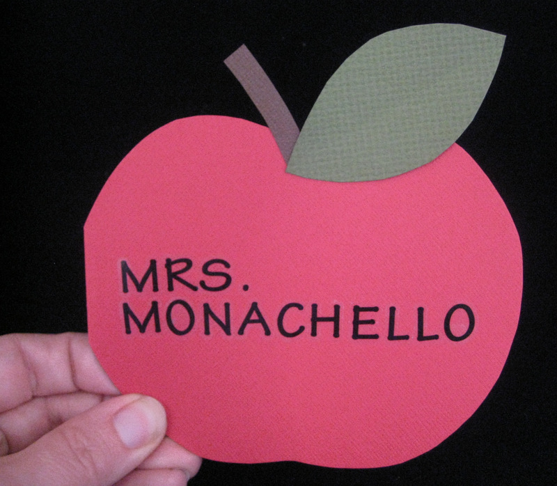 Apple-Shaped Card