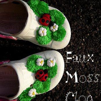 Faux Moss Clog