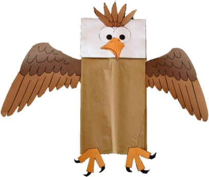 Paper Bag Bald Eagle
