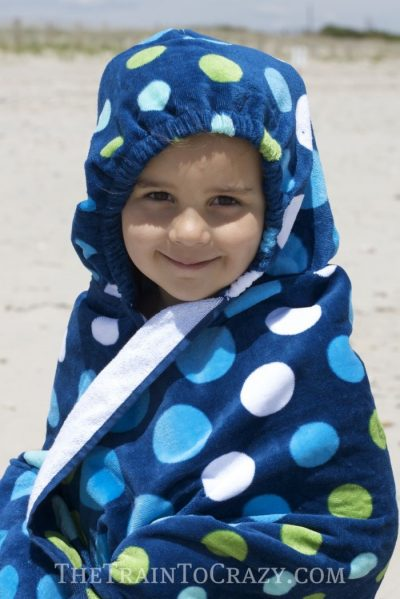 Hooded Beach Towel Backpack