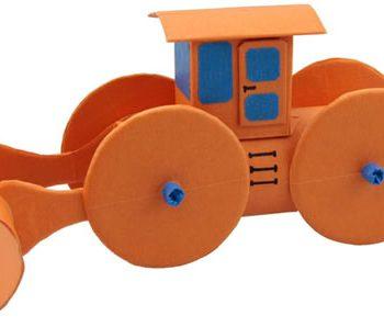 Cardboard Tube Bulldozer