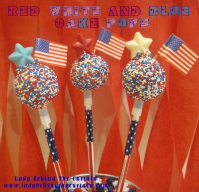 Red White And Blue Cake Pops Fun Family Crafts