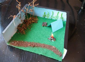 Camp Diorama Box
