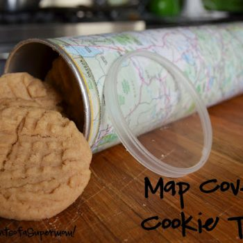 Map Covered Cookie Tubes