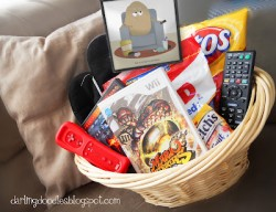 Couch Potato Gift Basket