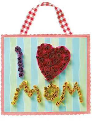 Mother's Day Curlicue Card