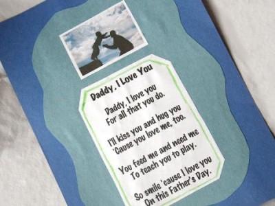 I Love You Daddy Poem