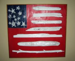 Patriotic Driftwood Flag